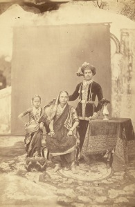As a young ruler with the Queen Jamnabai, his adoptive mother and sister Tara Copyright: Wikipedia Commons