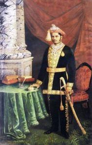 Maharaja Sayajirao Gaekwad III painted by one of his favourite painters, Raja Ravi Varma.  Copyright: Wikipedia Commons