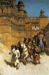 Maharaja of Gwalior near his fort, painted by Lord Edwin Weeks.  Copyright: Wikipedia Commons