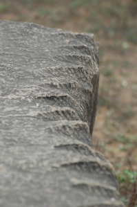 Detail of the notches on the boulders