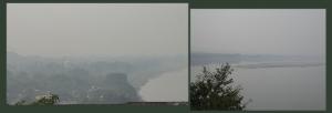 The Uttarvahini Ganga on a hazy day