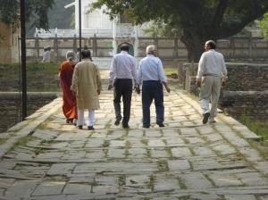 Our group of art historian, textile historian, Sanskrti scholar, museum curator and driver Mishraji
