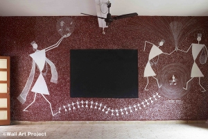 Creation by Warli artist Rajesh Chaity Vangad, Ganjad