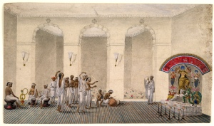 durga_puja_1809_watercolour_painting_in_patna_style