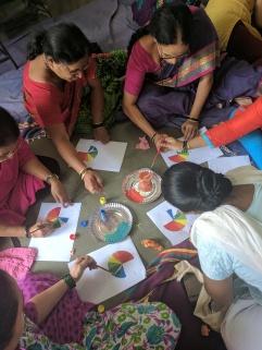 Spilling colour :p NGO Hamaara Sapna