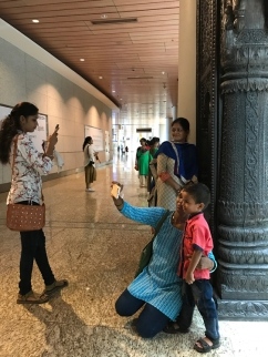 Selfie time always, Jaya He GVK New Museum, T2, Mumbai