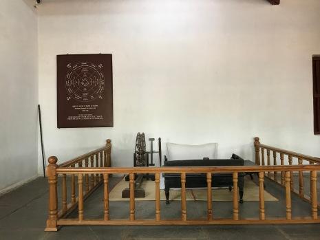 Mahatma Gandhi's Charkha and seat
