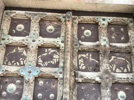Metal carved panel on Temple, Amer Precinct, Jaipur