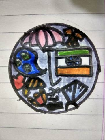Suhani's coin includes Nature and India's flag