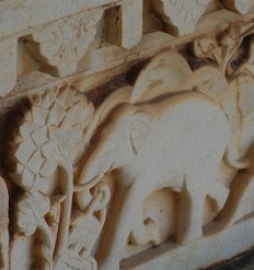 Details from City Palace sculpted walls, Udaipur