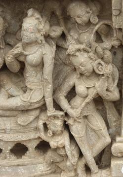 Parvati's adoring look, Abhaneri