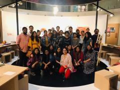 Product Design students at the Piramal Museum