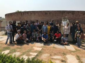 Amaravati Stupa site with NID students
