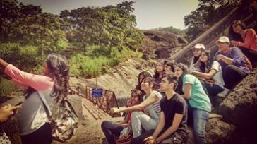 With Interior Design students, Kanheri caves,