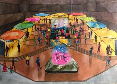 Amar's hand painted STC pavilion