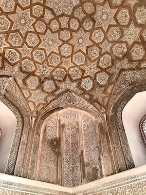 Painted interior of Sundar Burj