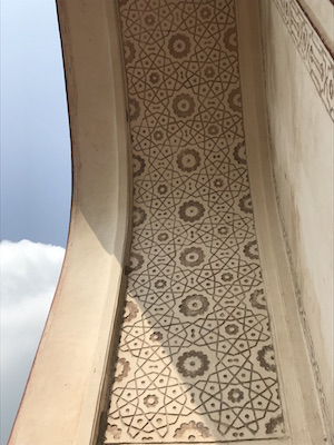 Carved & painted motifs