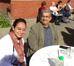 Chance meeting with Yunus Khimani at the John Madejski garden cafe @V&A
