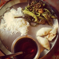 The Bengali winter delicacy: 'gur' 'pithe' seasonal veggies :) we made