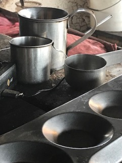 Utensils for a South Indian breakfast