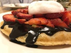 Ketul Patel's strawberry chocolate waffle, Cafe Tilla