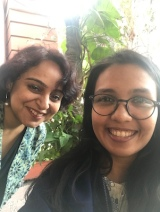 Anjali & I ran between a conference for a 'Chaat' break @House of MG