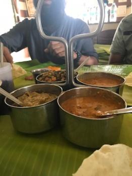 South Indian rasam, sambhar, veggies @Murugan, Vijayawada