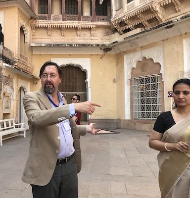 Dr Giles Tillotson & Curator Sunayana Rathore