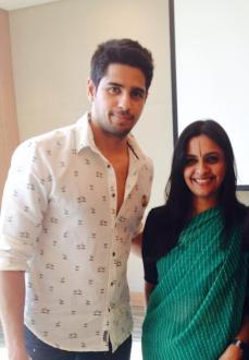 With Sidharth Malhotra, in her Lehariya